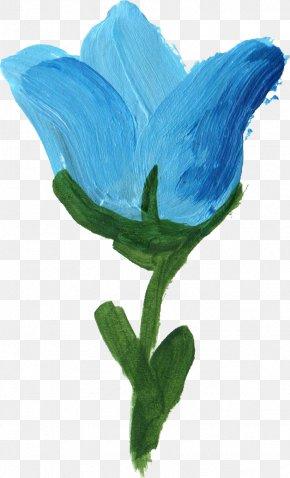 Blue Flower - Flower Blue Petal Paint PNG