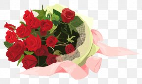 Roses Bouquet Clipart - Flower Bouquet Garden Roses Clip Art PNG