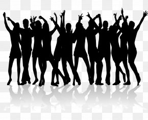 Dancing Material For Many People - Dance Silhouette Nightclub Clip Art PNG