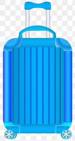 Blue Trolley Suitcase Clipart Image - Suitcase Travel Clip Art PNG
