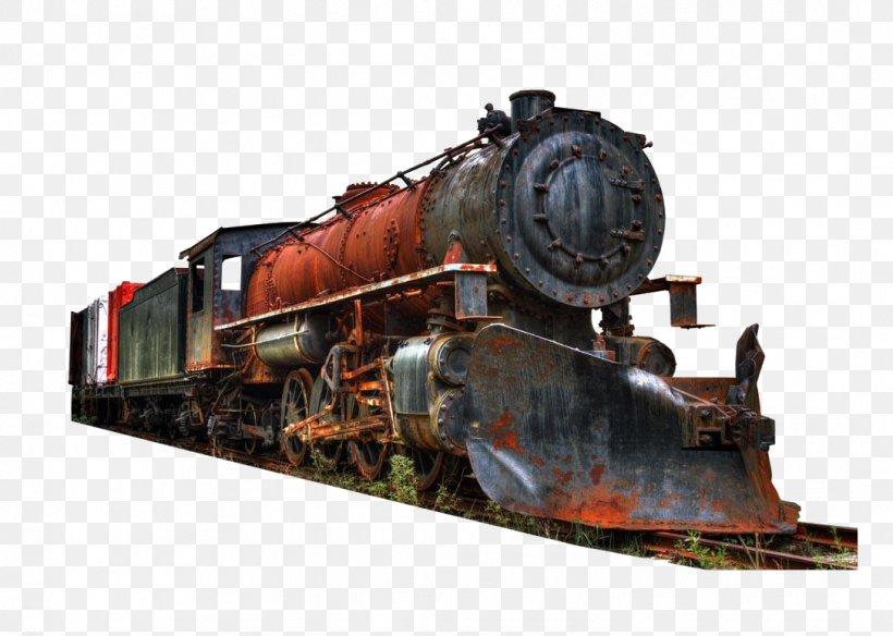 Train Railroad Car Rail Transport Track Steam Locomotive, PNG, 1086x774px, Train, Bridge, Engine, Locomotive, Motor Vehicle Download Free