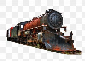 Red Driving Train - Train Railroad Car Rail Transport Track Steam Locomotive PNG
