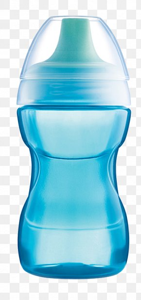 Blue Baby Bottle - Milk Cup Drinking Mother PNG