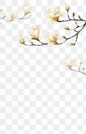 Hand-painted Flowers Corner Decorative Background PNG