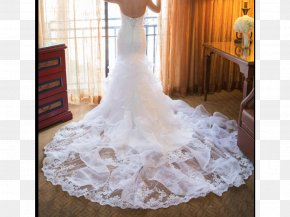 Wedding Dress - Wedding Dress Bride Satin Lace Gown PNG