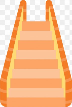 Red Orange Ladder - Centralu2013Mid-Levels Escalator And Walkway System Stairs Elevator PNG
