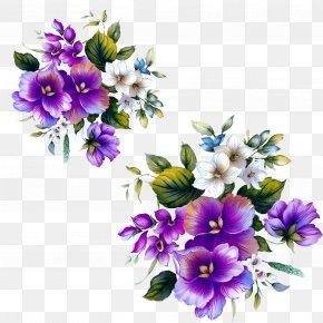 Purple Flowers Decorative Floral Patterns - Floral Design Flower Purple PNG
