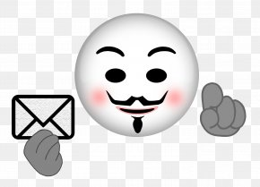 Anonymous - Anonymous Emoji Emoticon Smiley Anonymity PNG