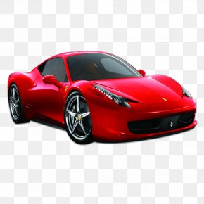 Red Sports Car - 2014 Ferrari 458 Spider Sports Car Luxury Vehicle PNG