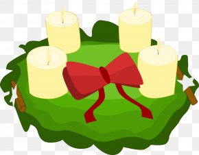Church Candles - Advent Wreath 4th Sunday Of Advent Clip Art PNG