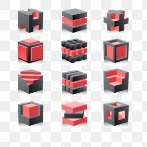 Vector Three-dimensional Cube - Cube Three-dimensional Space Logo PNG
