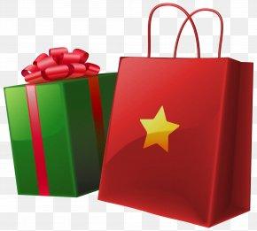 Transparent Christmas Gift Box And Bag - Gift Santa Claus Clip Art PNG