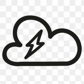 Thunderstorm Icon - Weather Cloud Meteorology Shape PNG
