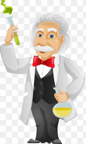 Scientists Elderly,chemistry Experiment,Cartoon Man,the Scientist,science Experiment - Cartoon Stock Photography Royalty-free PNG