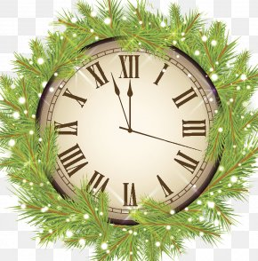 Christmas Clock - Clock Christmas New Year Icon PNG