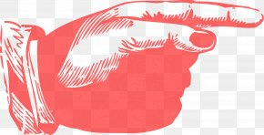 Hand Pointing - Index Finger Pointing Clip Art PNG