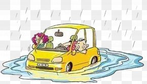 Rainwater Pit - Car Rain Vehicle Insurance Cloudburst Traffic Collision PNG