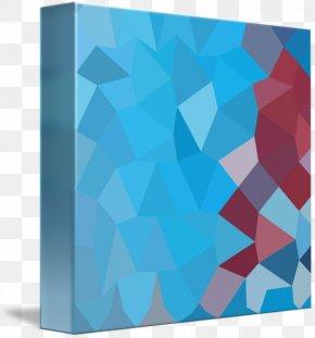 Blue Polygon - Cobalt Blue Turquoise Aqua Teal PNG