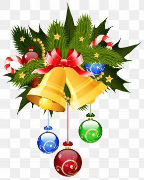 Christmas Bells And Ornaments Transparent Clip Art Image - Christmas Jingle Bell Clip Art PNG