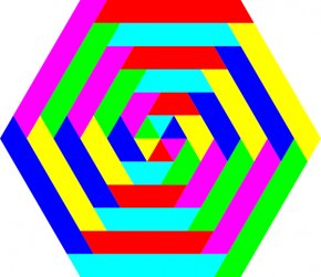 Cartoon Pictures Of Rainbows - RAINBOW HEXAGONS Color Clip Art PNG