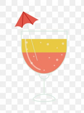 Drink - Orange Juice Soft Drink Wine Glass Cocktail Garnish PNG