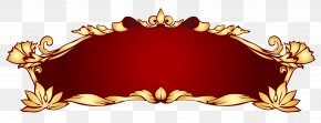 Transparent Red Deco Banner Picture - Banner Clip Art PNG