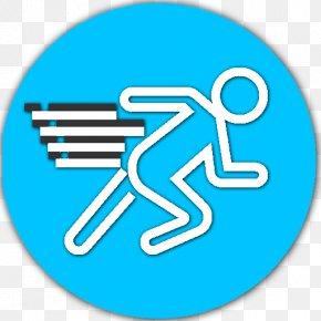Sticker Symbol - Turquoise Line Font Electric Blue Logo PNG
