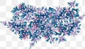 Purple Floral Watercolor - Purple Flower Watercolor Painting PNG