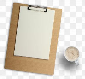 Wood Clipboard And Coffee Cup - Service Marketing Company PNG