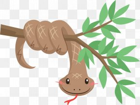 Snake Vector Painted Tree Branches - Snake Reptile Vipers Illustration PNG