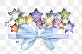 Vector Bow Pentagram - Christmas Decoration Pentagram Star PNG