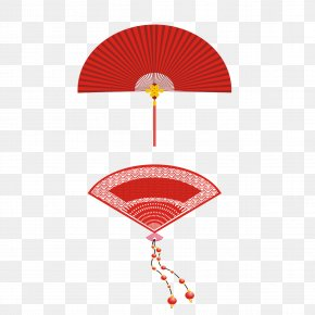 Chinese Fan Sub - Hand Fan Red PNG
