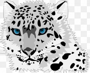 Leopard Head Cliparts - Amur Leopard Snow Leopard Cartoon Cat Clip Art PNG