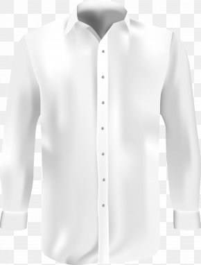 A White Shirt - Blouse White Dress Shirt Formal Wear PNG