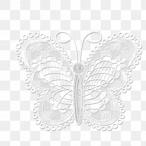 Lace Butterfly - Butterfly Download Papercutting PNG