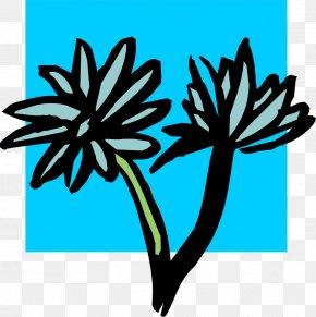 Blue Swoop - Clip Art Leaf Line Plant Stem Plants PNG