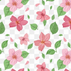Flower Background - Pink Flowers Euclidean Vector PNG