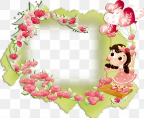 Rose Frame - Children's Day Happiness Wish Greeting Card PNG