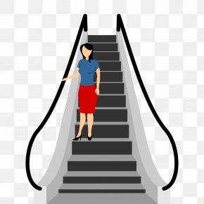 Vector Escalator - Escalator Euclidean Vector Stairs Elevator PNG