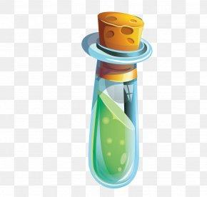 Cartoon Vector Glass Bottle Wishing - Glass Bottle Glass Bottle PNG
