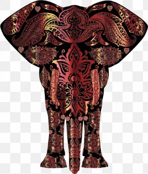 Elephant Motif - African Bush Elephant Indian Elephant Clip Art PNG