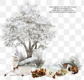 Warmth - Tree Branch Snow Clip Art PNG