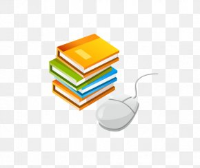 A Stack Of Books - Computer Mouse Illustration PNG