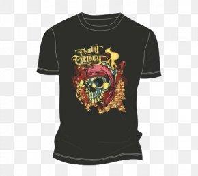 A Pattern Of Black T-shirt - T-shirt Clothing Sleeve U9ab7u9ac5 PNG