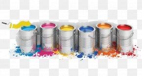 Decorative Paint Bucket - Paint Roller Color Oil Paint Brush PNG