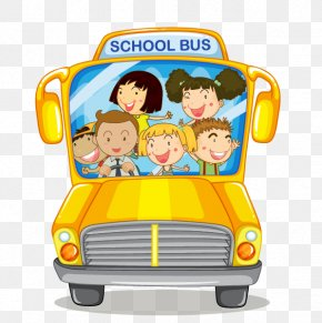 Cartoon School Bus - School Bus Yellow Illustration PNG