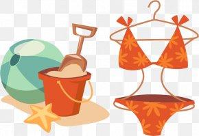 Sand Bucket Bra Underwear Vector Elements - Animation PNG