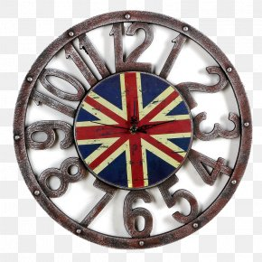 Union Jack Wall Clock - United States Volvo Cars Wheel Clock PNG