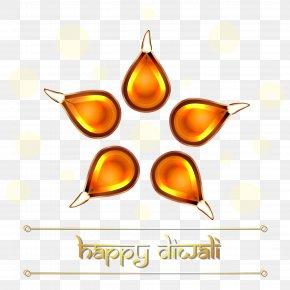 Beautiful Decoration Happy Diwali Clipart Image - Diwali Diya Candle Clip Art PNG