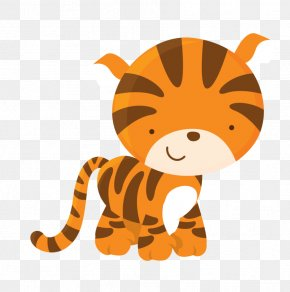 Cute Watermark - Tiger Lion Safari Child Clip Art PNG